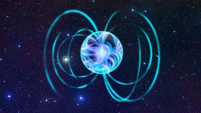 אילוסטרציה של כוכב ניטרונים. קרדיט: ESA.