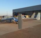 """מל""""ט ה""""הרון"""" מתוצרת התעשייה האווירית על מסלול ההמראה בבסיס חיל האוויר בסאן חוויאר"""