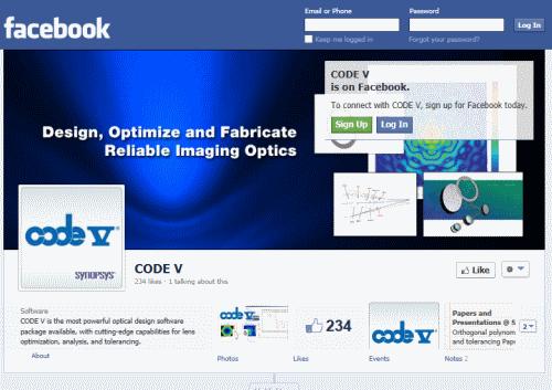 דף הפייסבוק של Code V