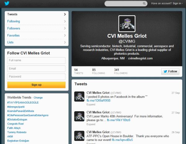 ערוץ הטוויטר של CVI