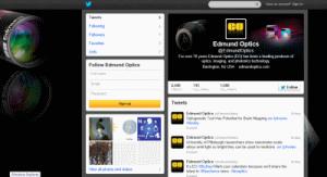 ערוץ הטוויטר של Edmund Optics