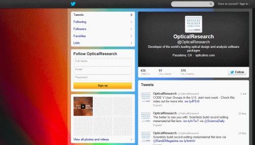 ערוץ הטוויטר של ORA