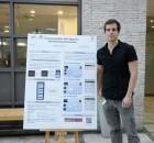 רועי חי מציג את הפרויקט ביום המחקר בפקולטה למדעי המחשב בטכניון